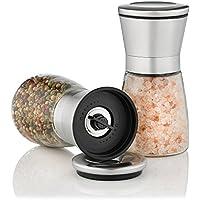 Zolmer Gewürzmühle 2er Set mit verstellbarem Keramikmahlwerk - Edle Salzmühle & Pfeffermühle aus hochwertigem Edelstahl - Auch als Chilimühle [Ohne Gewürzinhalt]