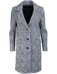 0a701c8c80fbad Drykorn Langarm Mantel Reverskragen geknöpft Struktur grau/schwarz