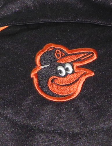 MLB Baltimore Orioles Damen Zip-Up Trainingsjacke mit gesticktem Logo Schwarz