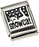 Nomination Damen-Charm COMPOSABLE BIG 925er Silber Oxidiert Snowcat Edelstahl - 332111/04