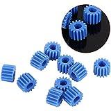 10pcs Engrenages Plastiques en Forme D Montage de Moteur 15 Dents Couleur Bleue pour Robot Jeux Jouets Automobiles Modèle de Voiture Avion