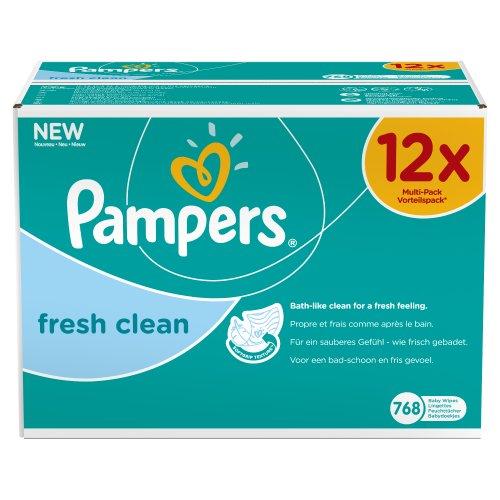 Pampers Feuchte Tücher Fresh Clean Vorteilspack Giga 12x, 1er Pack (1 x 768 Stück)