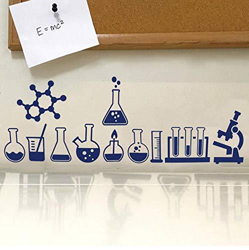 yangyueyue Küchenwandaufkleber Science Lab Geek Wandtattoo Lab Klassenzimmer Atom Wissenschaft Chemie Atheist Wandaufkleber Schullabor Vinyl Schlafzimmer Dekor110 * 40 cm (Lab Bilderrahmen)