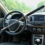 Dispositivi Antifurto di Bloccaggio Auto Regolabile Bloccasterzo Universale Blocco per Volante Auto, Martello Demolitore di Emergenza Ladri Deterrenti, con 3 Tasti