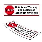 Briefkasten Aufkleber STOP keine Werbung Keine Zeitungen Sticker Post Zeitschriften Aufkleber Briefkastenschilder |DD007V