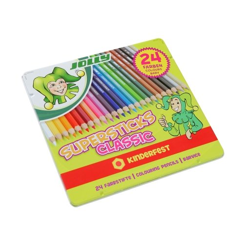 Jolly Buntstift Farbstift Supersticks classic Kinderfest, 24er Sortiment