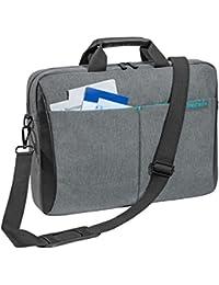 """PEDEA """"Lifestyle"""" Notebooktasche für 17,3 Zoll (43,9cm) mit Zubehörfach und Schultergurt, grau"""