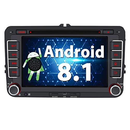 Pumpkin Autoradio GPS Android 8.1 para Coche VW Golf Seat Jetta Passat...