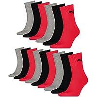 PUMA Unisex Short Crew Socken Sportsocken mit Frotteesohle 15er Pack