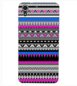 ColourCraft Tribal pattern Design Back Case Cover for HTC DESIRE 626