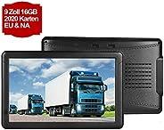 GPS Navigation für Auto, Aonerex 9 Zoll Touchscreen Navigationsgerät für LKW PKW KFZ 16GB 256MB Navi mit POI Blitzerwarnung
