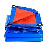 QUNA Schutzplane Wasserdichter Hochleistungsbereich - vielseitig einsetzbar für Planenüberdachungszelt, Boot, Wohnmobil oder Pool, Motorradabdeckung,3x6m