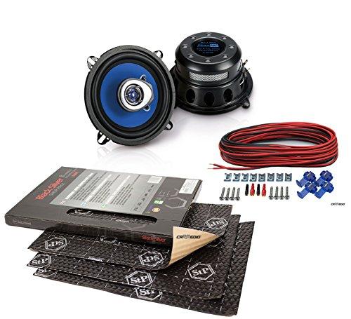 Mazda B Serie (94-06) Sinustec Lautsprecher Boxen 130mm Vordere Türen mit Premium Dämmung STP Black Silver Shop Pack (8 Panels je 375x265x1,8mm) (Mazda 3 Sound System)
