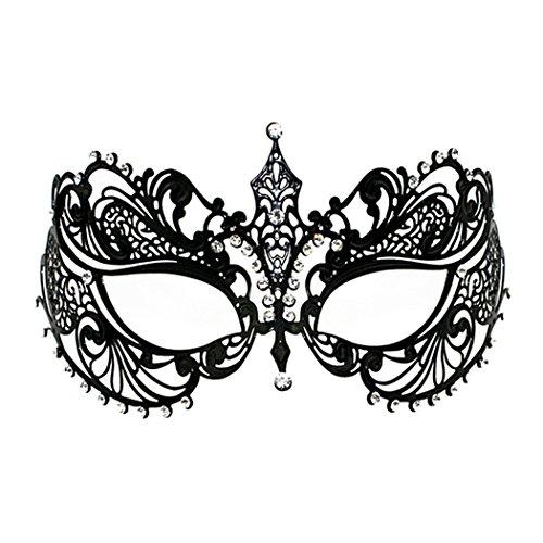 Crown Laser Cut Metall Damen Maskerade Maske Mardi Gras Maske ()
