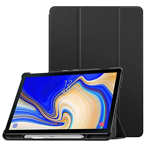 FINTIE Custodia Cover per Samsung Galaxy Tab S4 10.5 2018 - Sottile di Peso Leggero Cover con Funzione Auto Sveglia/Sonno S Pen Holder per Galaxy Tab S4 10,5 Pollici SM-T830N/T835N, Nero