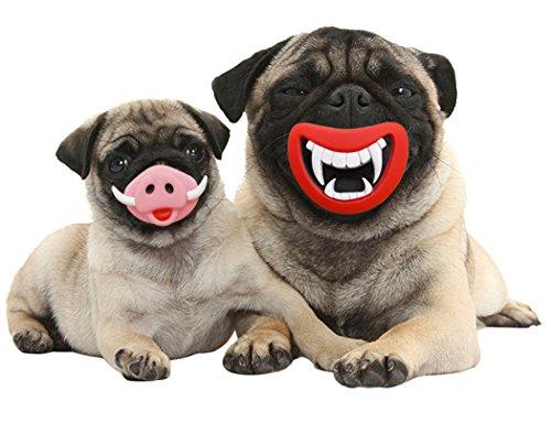 Hunde Kostüm, Legendog 2 Stück Halloween Haustier Spielzeug Set Red Lip Schwein Nase Hund Zahnen Spielzeug Hund (Hunde Schwein Kostüm Für)