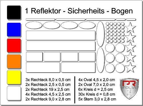 familySafe Reflektor und Leucht Bogen für Fahrrad Helm Kinderwagen und vieles mehr. Schwarz/ Weiß reflektierend