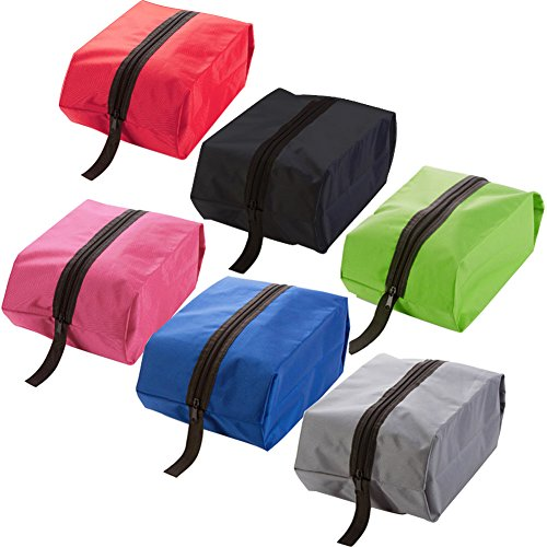 AVESON 6Stück tragbar Wasserdicht Nylon Reise Schuh Taschen Organizer Aufbewahrungstasche mit Reißverschluss, klein (Multicolor)