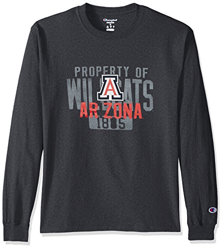 NCAA Arizona Wildcats Herren T-Shirt Champ Long Sleeve Tee 2, Größe L, Granit Heather