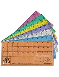 ORIENTSPORT Tarjetas de Control Sintéticas (100 Unidades), Transparente, M