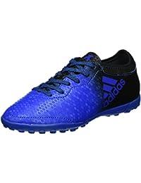 adidas X Tango 16.3 TF, Botas de Fútbol Unisex Niños, Azul (Blue / Core Black / Shock Pink), 38 2/3 EU