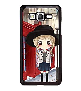Fuson Premium 2D Back Case Cover Cute office Girl With black Background Degined For Samsung Galaxy J5::Samsung Galaxy J5 J500F