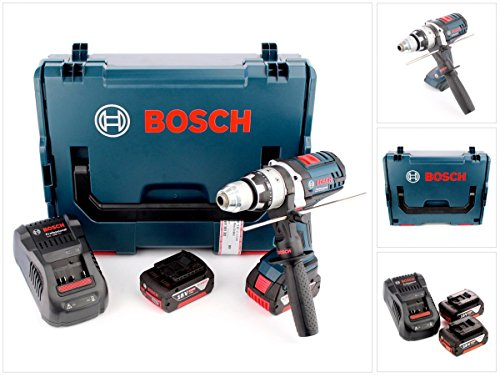 Preisvergleich Produktbild Bosch GSB 18 VE-2-Li 18 V Li-Ion Professional Akku Schlagbohrschrauber in Bosch L-Boxx mit Schnellladegerät und 2x GBA 6 Ah Akku