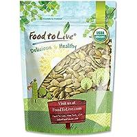 Food to Live Pepitas/Semillas de Calabaza Bio (Eco, Ecológico, crudas, sin cáscara, comestible según la ley judía) - 1.8 Kg