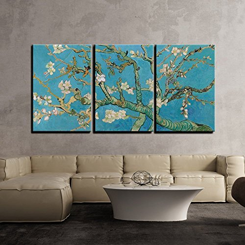 3 Piece Canvas Wall Art - Gold Color Abstract Artwork - Modern...