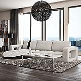 Muebles Bonitos - Sofa de diseño moderno Rosa blanco con negro