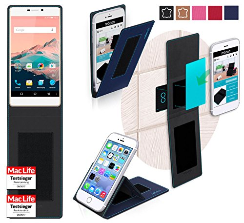 reboon Hülle für Allview X2 Soul Pro Tasche Cover Case Bumper   Blau   Testsieger