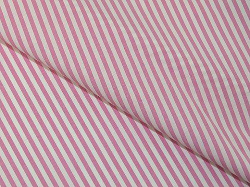 3mm Streifen drucken Polyester & Baumwolle Shirting Kleid Stoff pink–Meterware Shirting Kleid