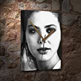 SEASONS ORNELLA MUTI - Canvas Clock (A5 - Signed by the Artist) #js002