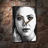 SEASONS ORNELLA MUTI - Canvas Clock (A5 - Signed by the Artist) #js002
