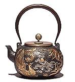MINBAO Creativo Handmade Dragon E Phoenix Teiera in ghisa Pentola Regalo tè Insieme di tè Teiera in Ferro teiera Teiera Set Teiera