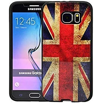 31b700258e COMPATIBLE WITH SAMSUNG GALAXY S6 VINTAGE UNION JACK PRINTED DESIGN GEL CASE  COVER AND SCREEN PROTECTOR