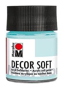 Marabu Decor Soft 50ml Botella Tarro de Cristal - Pintura acrílica (Botella, MDF, Madera, 50 ml, Tarro de Cristal)