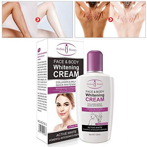 Shoppy Shop Aichun Body Cream For Dark Skin Bleaching Brightening Body Lotion Whitening Cream 120ml Private Parts Formula facial care tool