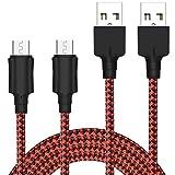 Cavo Micro USB [2 Pezzi, 2M] Yosou Cavo USB Micro USB Nylon Intrecciato Cavo Android Trasferimento...