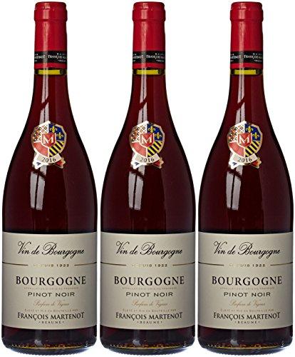 François Martenot France Burgundy Vin Parfum Vignes AOP Bourgogne, 75 cl - Lot de 3
