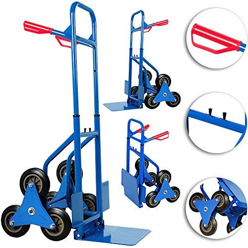 Deuba® Treppenkarre klappbar ✔bis 200kg ✔Befestigungslöcher - Sackkarre Transportkarre Treppensteiger Stapelkarre Treppen Karre Treppensackkarre Transportwagen