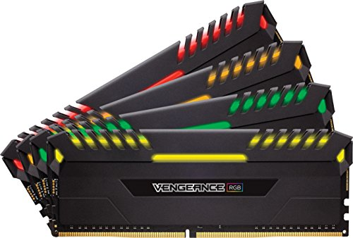 Corsair Vengeance RGB Kit di Memoria Illuminato RGB LED Entusiasta 32 GB (4x8 GB), DDR4 3000 MHz, C15 XMP 2.0, Nero