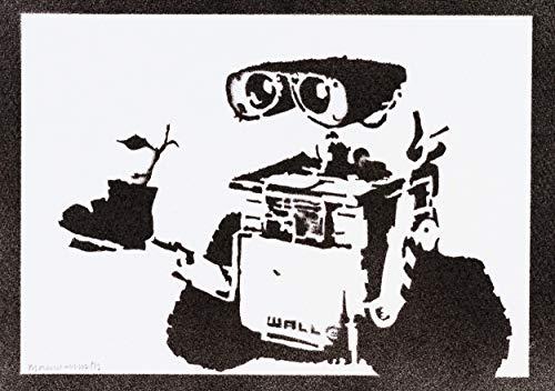 Póster Wall-E Grafiti Hecho A Mano - Handmade Street Art -...