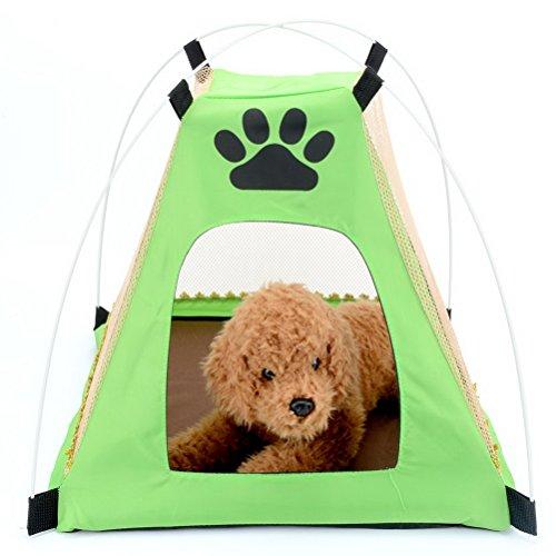 zunea Pet Hund Zelt Katzenhaus Mesh Wasserdichtes Sonnensegel Kissen, Oxford Tuch Hund Paw Form Home Außerhalb Strand Camping Indoor Outdoor Picknick Reise