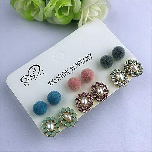Orecchini orecchini in pietra di bohemian flower stud per le donne alla moda boho jelly opal crystal cubic zirconia borchie orecchino set piercing