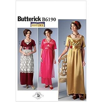 Butterick Nähmuster 6190 Empire-Taille Kleid & Jacket Vintage-Stil ...