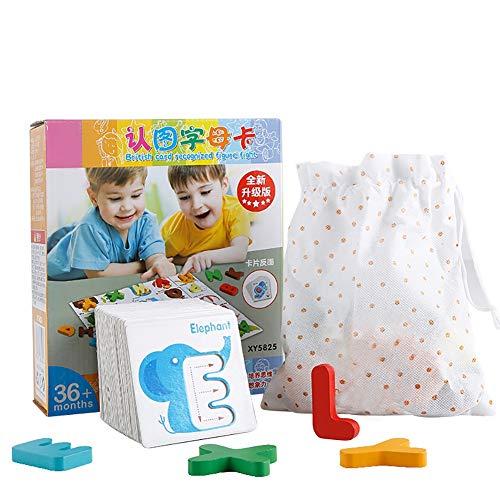 SU Kinder Puzzle Bausteine Spielzeug aus Holz 3-6 Jahre alt Alphabet Anerkennung Aufklärung
