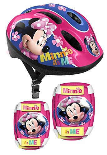 3tlg Set Disney Minnie Maus Mouse Kinder Fahrrad Lenker Tasche Korb + Trinkflasche + Klingel Glocke (Minnie Maus-tasche Für Erwachsene)