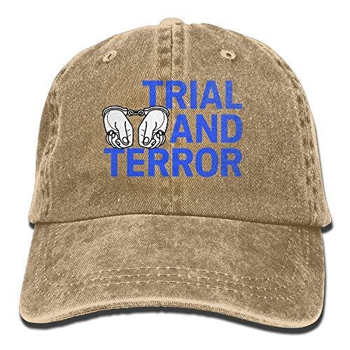 kslae Trial and Terror Denim Baseballmütze Verstellbare Baumwoll Sport Strap Cap für Männer Frauen - Chauffeur-uniform