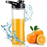 Drinking Water Bottle, MengK Tritan Bottle with Air-Tight Snap-Lock Closure,Flip Top To-Go Lid (600ml/20oz)